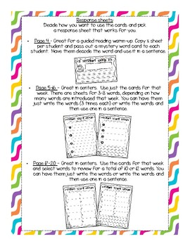 Sight Word Mystery Word Cards for First Grade {Saxon Phonics}