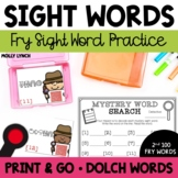 Sight Word Mystery Word Search Set #2