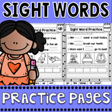 Sight Words Reading Fluency Practice Pages and Word Work Activities
