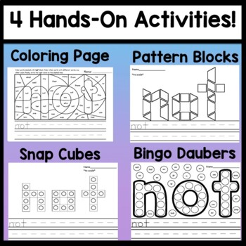 Sight Word NOT  {2 Sight Word Books and 4 Worksheets!}