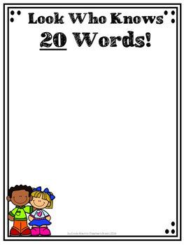 Sight Words Kindergarten Necklace Practice