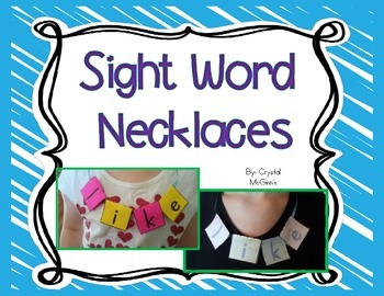 Sight Word Necklaces (40 Sight Word Necklaces Included)