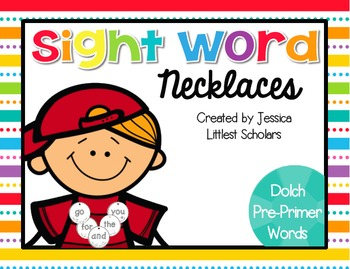 Sight Word Necklaces Bundle [Dolch Pre-Primer and Primer]