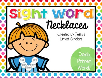 Sight Word Necklaces [Dolch Primer]