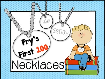 Sight Word Necklaces - Fry's First 100 Word