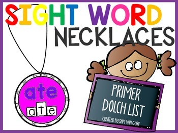 Sight Word Necklaces *Primer List*