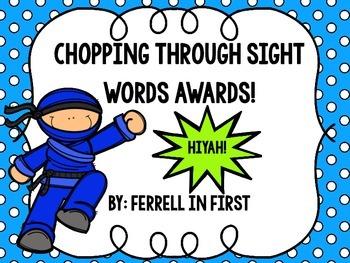 Sight Word Ninja Certificate