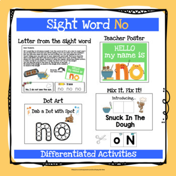 Sight Word No Activities