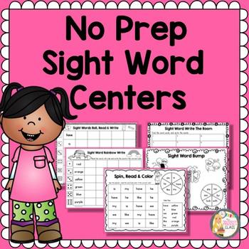 Sight Words Worksheets for Kindergarten