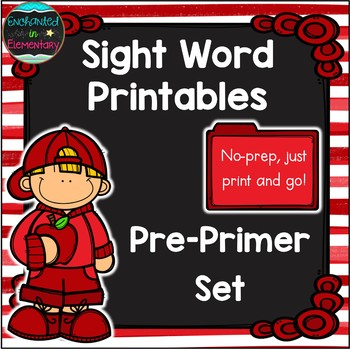 Sight Word No-Prep Printables: Pre-Primer Pack