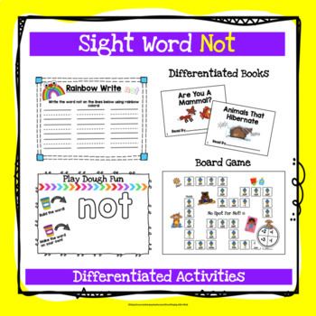 Sight Word Not Activities