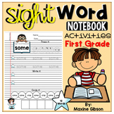 Sight Word Notebook Activities First Grade