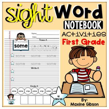 Sight Word Notebook Activities First Grade