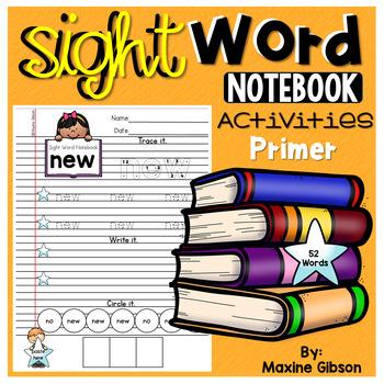 Sight Word Notebook Activities Primer