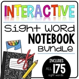Interactive Sight Word Notebook BUNDLE {175 words + editable version!)