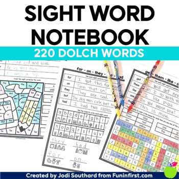 Sight Word Notebook (Dolch Word List) - Distance Learning