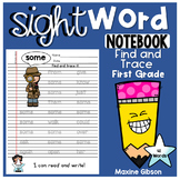 Sight Word Notebook Find and Trace First Grade