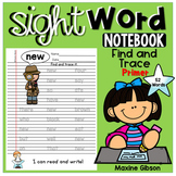 Sight Word Notebook Find and Trace Primer