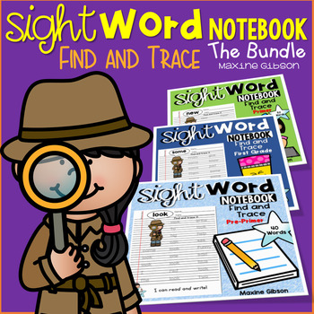 Sight Word Notebook Find and Trace the Bundle