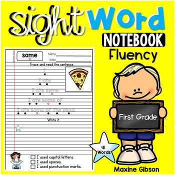 Sight Word Notebook Fluency First Grade