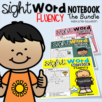 Sight Word Notebook Fluency the Bundle