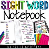 Sight Word Fluency Notebook | Dolch Words | Distance Learning
