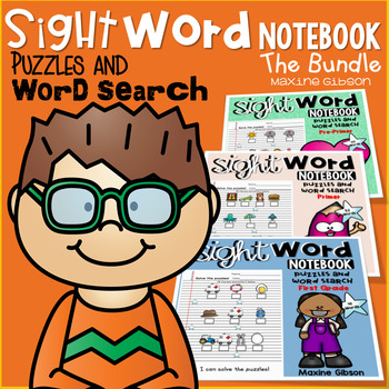 Sight Word Notebook Puzzles and Word Search the Bundle