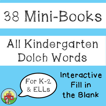 Sight Word Mini-Books BUNDLE for Kindergarten and ELLs