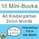 Kindergarten Sight Word Mini-Books BUNDLE for Beginning ELLs