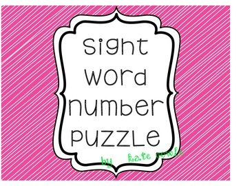 Sight Word Number Puzzle