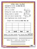 Sight Word Nursery Rhyme Graphs Bundle