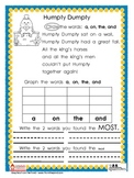 Sight Word Nursery Rhyme Graphs Set 1