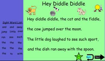 Sight Word Nursery Rhyme Search
