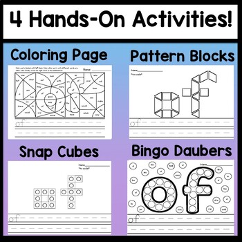 Sight Word OF {2 Sight Word Books and 4 Worksheets!}