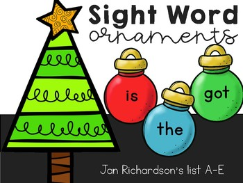Sight Word Ornaments