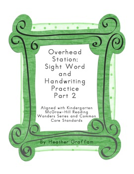 Sight Word Overhead Station (Block Letters) Part 2