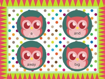 Sight Word Owls