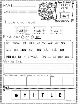 Sight word pci level 2 worksheet freebie by superteach56 tpt sight word pci level 2 worksheet freebie ibookread PDF