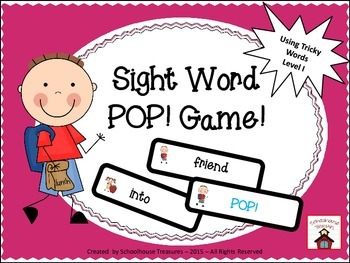 Sight Word POP! Game -  (Tricky Words Level 1)