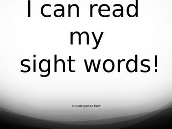 Sight Word PP for Kindergarten