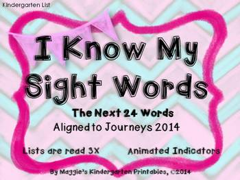 Sight Word Slideshow Animated