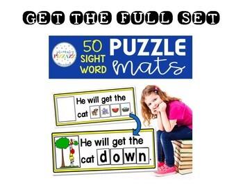 Sight Word PUZZLE Mats - FREEBIE