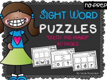 Sight Word PUZZLES~NO PREP!