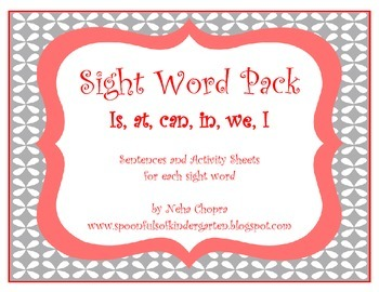 Sight Word Emergent Reading Pack