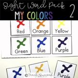 Sight Word Pack 2: Colors words for special education and
