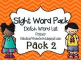 Sight Word Pack Dolch Words {Primer}