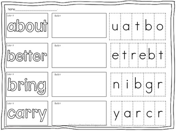Sight Word Pack Dolch Words (Third Grade)