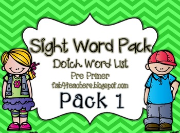 Sight Word Pack Dolch Words {pre-primer}