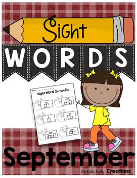 Sight Word Pack - Fluency - Writing - Centers - September - NO PREP