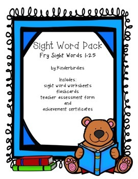 Sight Word Pack - Fry 1-25